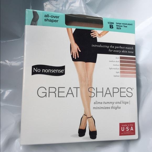 1e3a76314d3e3 Accessories | No Nonsense Great Shapes Allover Shaper Size B | Poshmark
